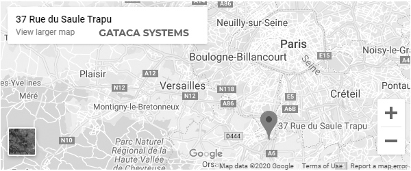 map to reach Gataca Systems France